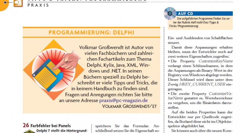 Tipps&Tricks Delphi Programmierung