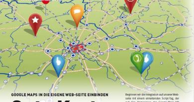 Google Maps für eigene Webseiten