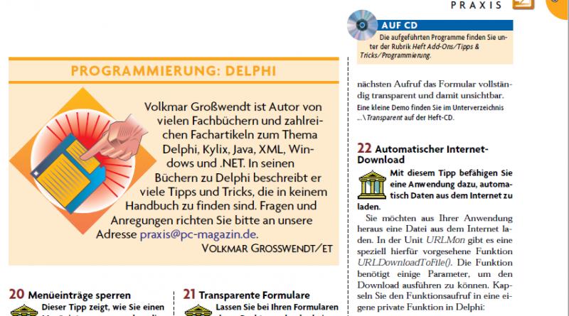 Tipps&Tricks Programmierung Delphi