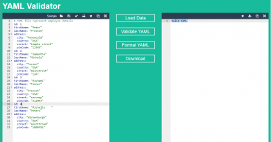 YAML Formatierung und Validierung