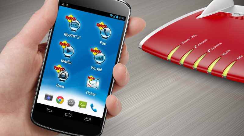 AVM FRITZ!App FON im Einsatz.